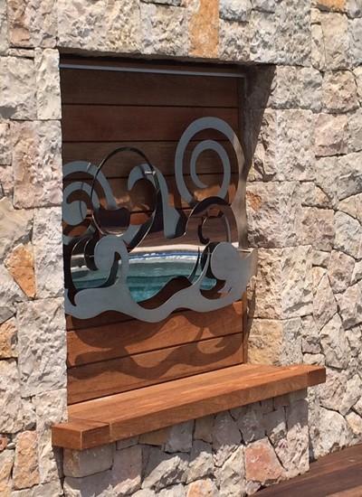 Iron wall sculpture